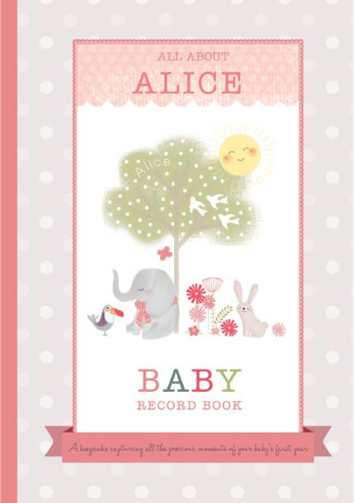 Milley & Flynn Personalized Baby Girl Record Book - Pink