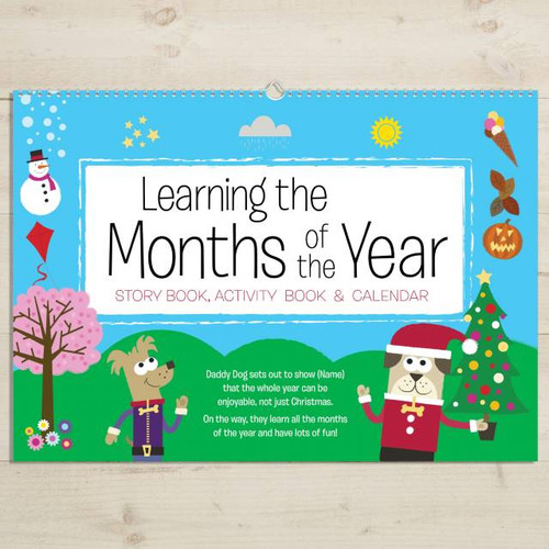 Months of the Year Activity Personalized Book