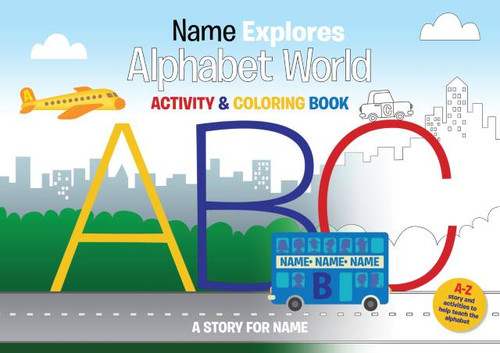 Alphabet World Personalized Activity & Coloring Book