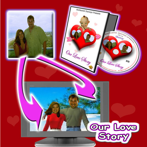 Our Love Story Personalized DVD Photo in TV
