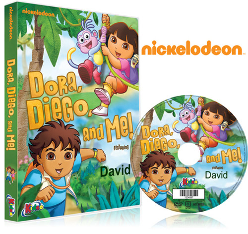 Dora, Diego and Me Personalized DVD for Kids Case and Disc