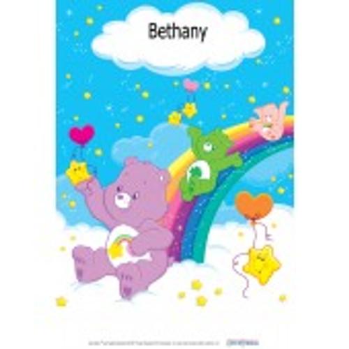 Personalized Children's Poster - Care Bear (Slide)