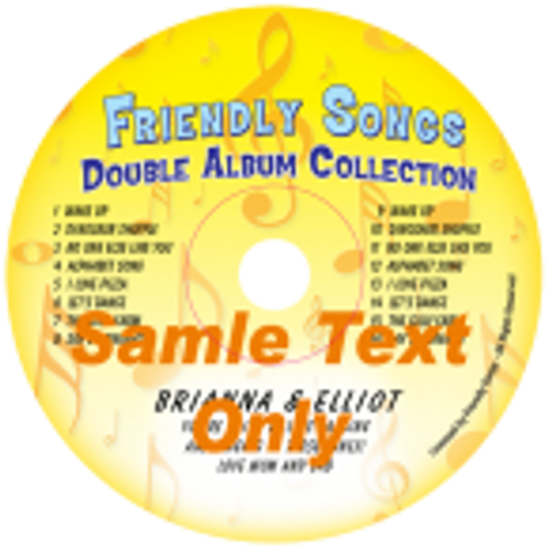 Double Name CD or Double Album Personalized Music CD