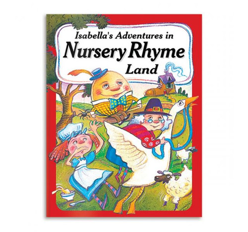Nursery Rhyme Land Adventure Personalized Childrens Book - Large Size Softcover