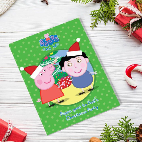 Peppa Pig: Christmas Party Personalized Book - Large Hardback