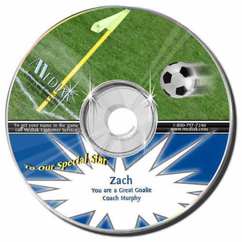 Soccer Personalized Sports Broadcast Audio CD