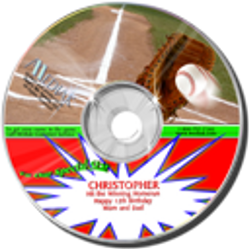 Personalized Sports Broadcast Audio CDs - Baseball