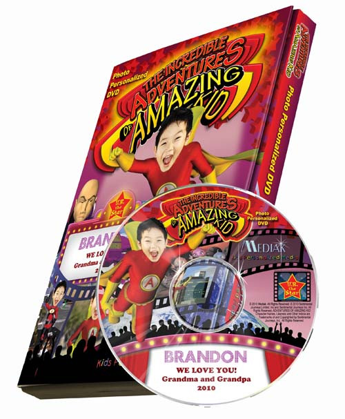 Amazing Kid Personalized DVD for Kids Case and Disc