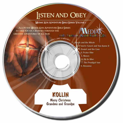 Listen and Obey Personalized Kids Music CD