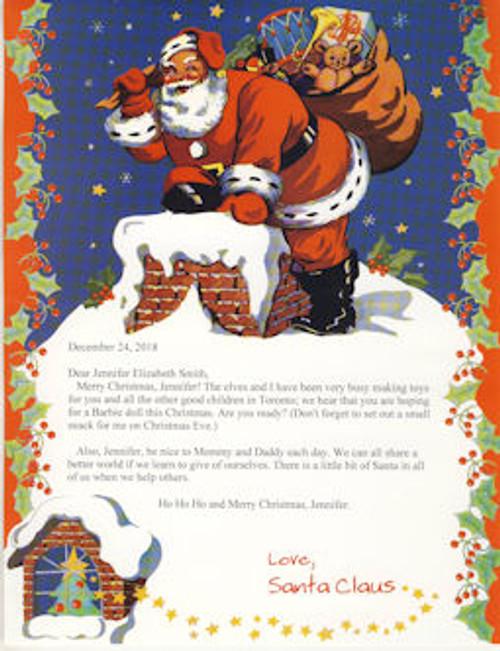 Santa Letter - Standard