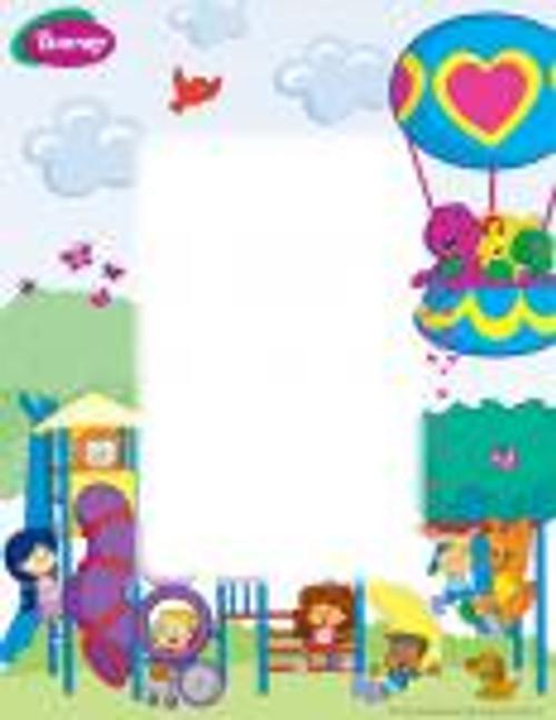 Personalized Barney Name Poem - Playground Background