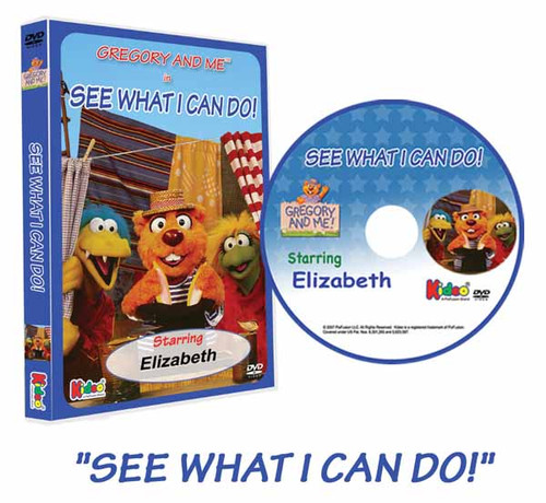 Gregory and Me See What I Can Do Personalized DVD for Kids Case and Disc