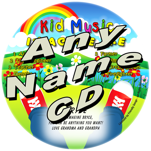 CUSTOM NAME - Imagine Me Personalized Kids Music CD