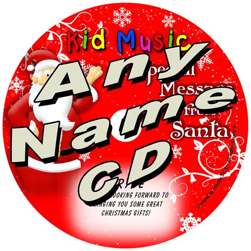 CUSTOM NAME - Santa Message Personalized Christmas Music CD