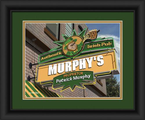 Personalized Irish Pub - with Frame