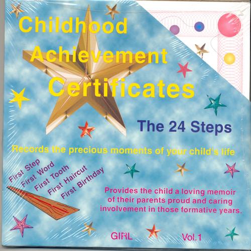 Childhood Achievement Certificates - Girl
