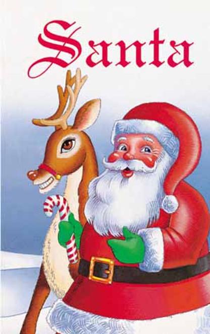 Santa Personalized Childrens Book Caucasion illustrated version
