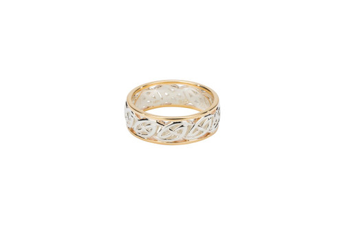 """Sterling Silver + 10k Gold Window to the Soul """"Ness"""" Ring"""