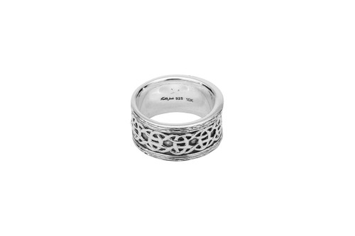 """Sterling Silver Oxidized Barked """"Scavaig"""" Ring"""