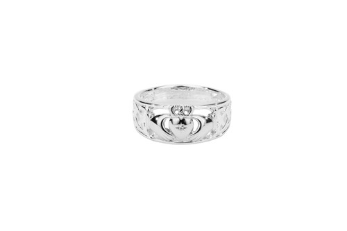 """Sterling Silver """"Claddagh Diamond"""" (Tapered)"""