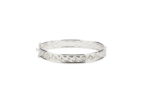 Sterling Silver Window to The Soul Hinged Bangle
