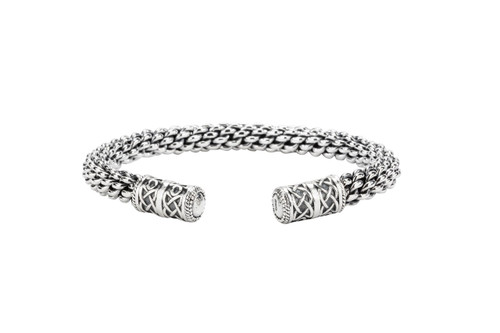 Sterling Silver Heavy Celtic Torc Bangle