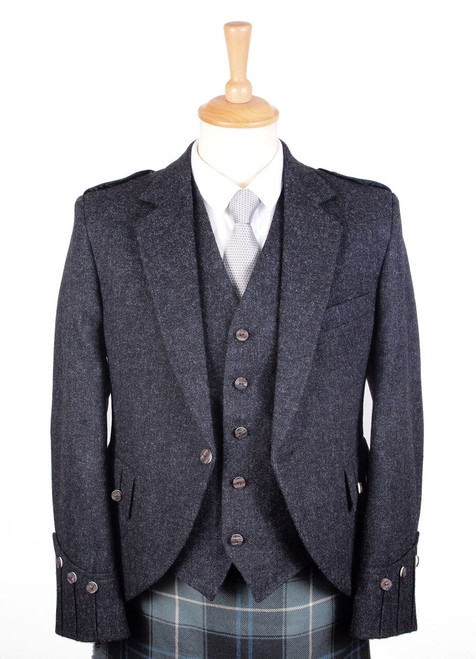 Charcoal Jacket and Vest