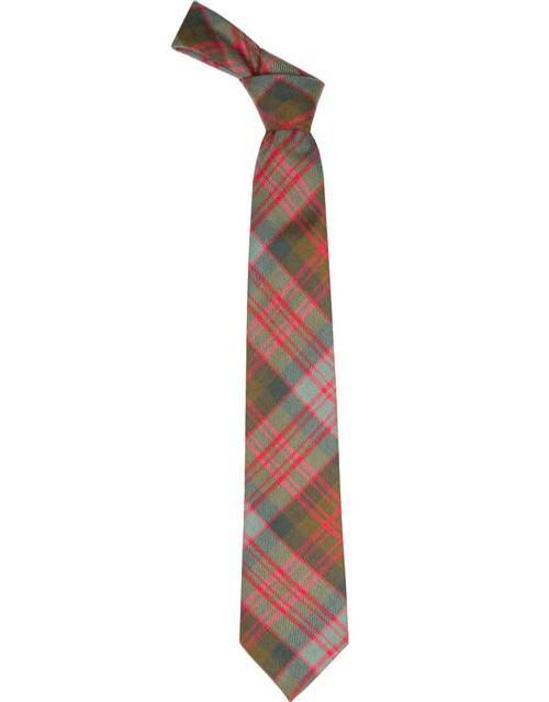MacDonald Weathered Scottish Tartan Plaid Tie For Men | 100% Worsted Wool | Made in Scotland