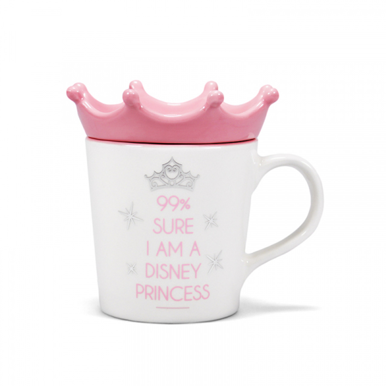 Disney Princess Crown Coaster Lid Coffee Mug