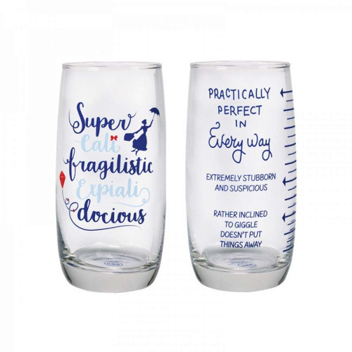 Mary Poppins Set Of 2 Drinking Glasses