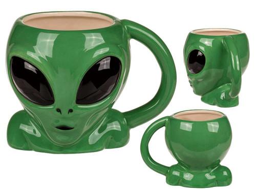 Retro Alien 3D Mug