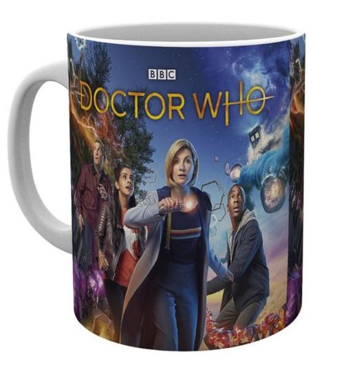 Doctor Who 13th Dr  Group Shot Mug