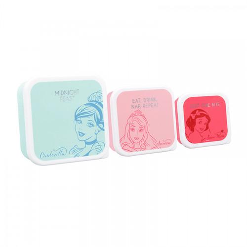 Disney Princess Set Of Three Lunch B0xes
