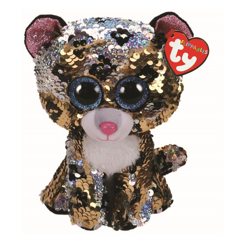 TY Flippables Beanie Babies Sterling Leopard Soft Toy
