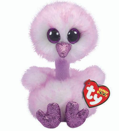 TY Beanie Boos Babies Kenya Lavender Ostrich Soft Toy