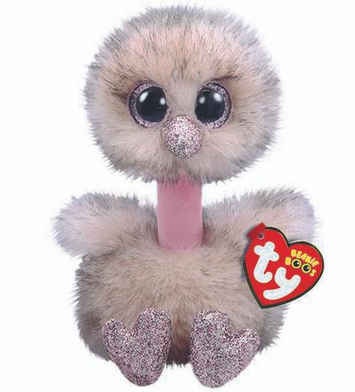 TY Beanie Boos Babies Henna Brown Ostrich Soft Toy