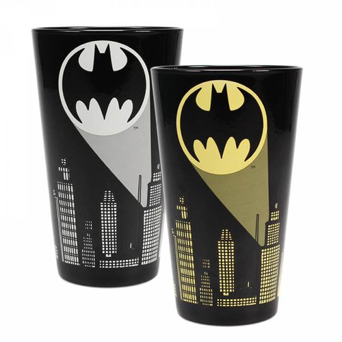 Bat Signal Cold Changing Glass
