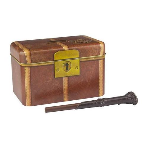 Hogwarts Trunk Money Box With Magic Wand Key
