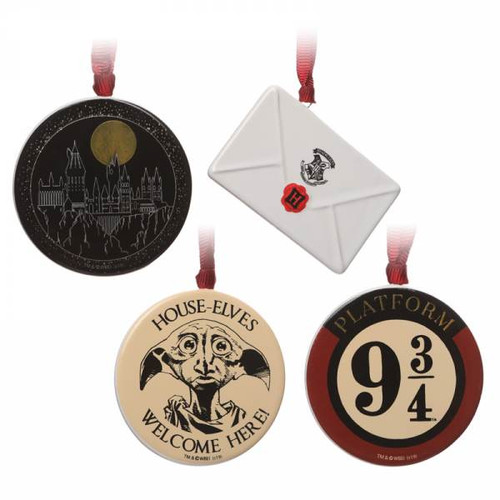 Harry Potter Set Of 4 Christmas Tree Decorations