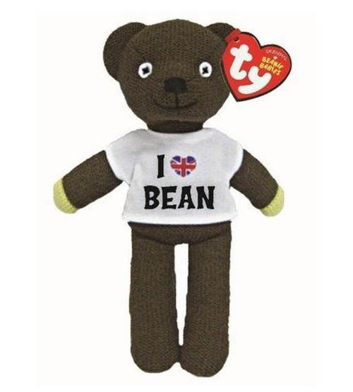 TY Beanie Boos Babies Mr Bean Teddy In Tshirt Soft Toy