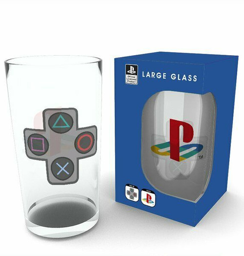 Sony Playstation Buttons Drinking Glass