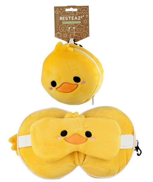 Cutiemals Duck Travel Pillow and Eye Mask