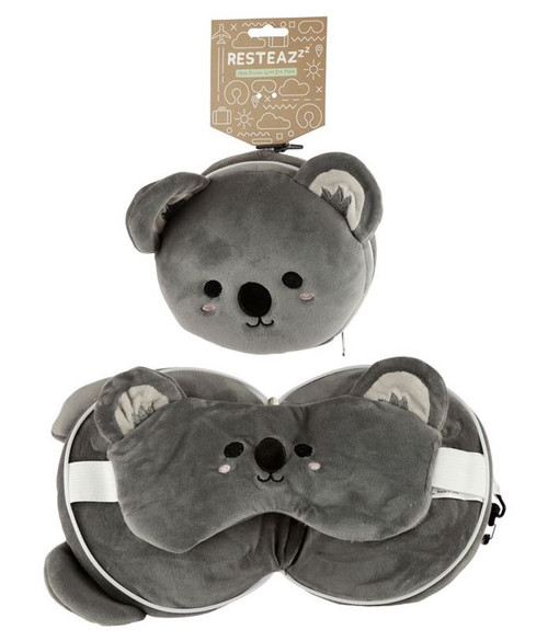 Cutiemals Koala Travel Pillow and Eye Mask