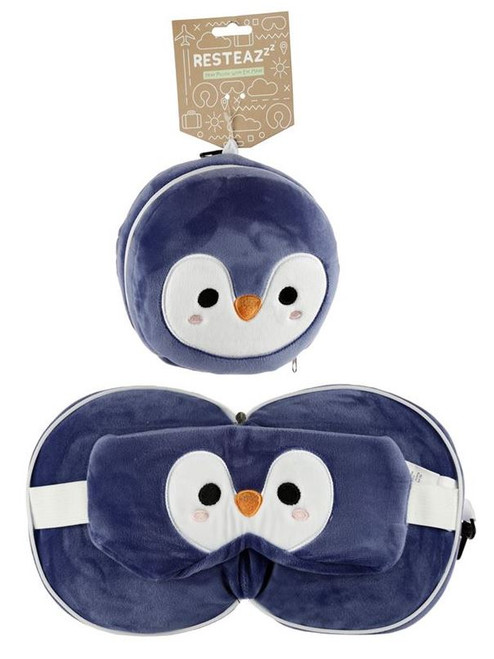 Cutiemals Penguin Travel Pillow and Eye Mask