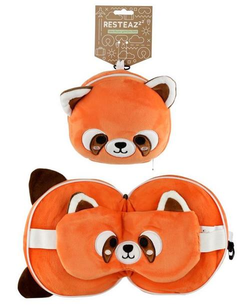 Cutiemals Red Panda Travel Pillow and Eye Mask