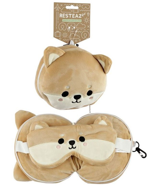 Cutiemals Dog Travel Pillow and Eye Mask