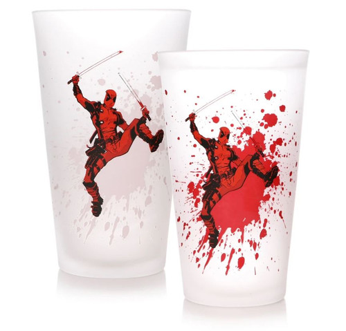 Deadpool Cold Changing Drinking Glass