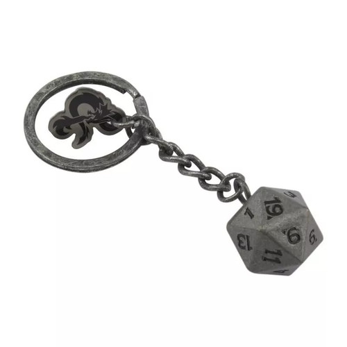 Dungeons & Dragons D20 Dice Keyring