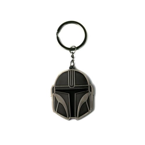 Star Wars The Mandalorian Helmet Metal Keyring