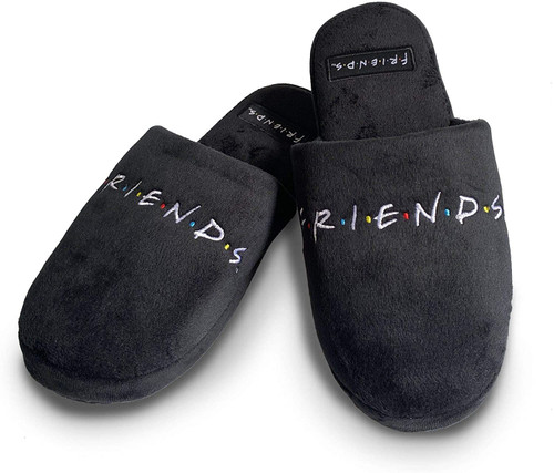 Friends Logo Black Mule Slippers UK 5-7